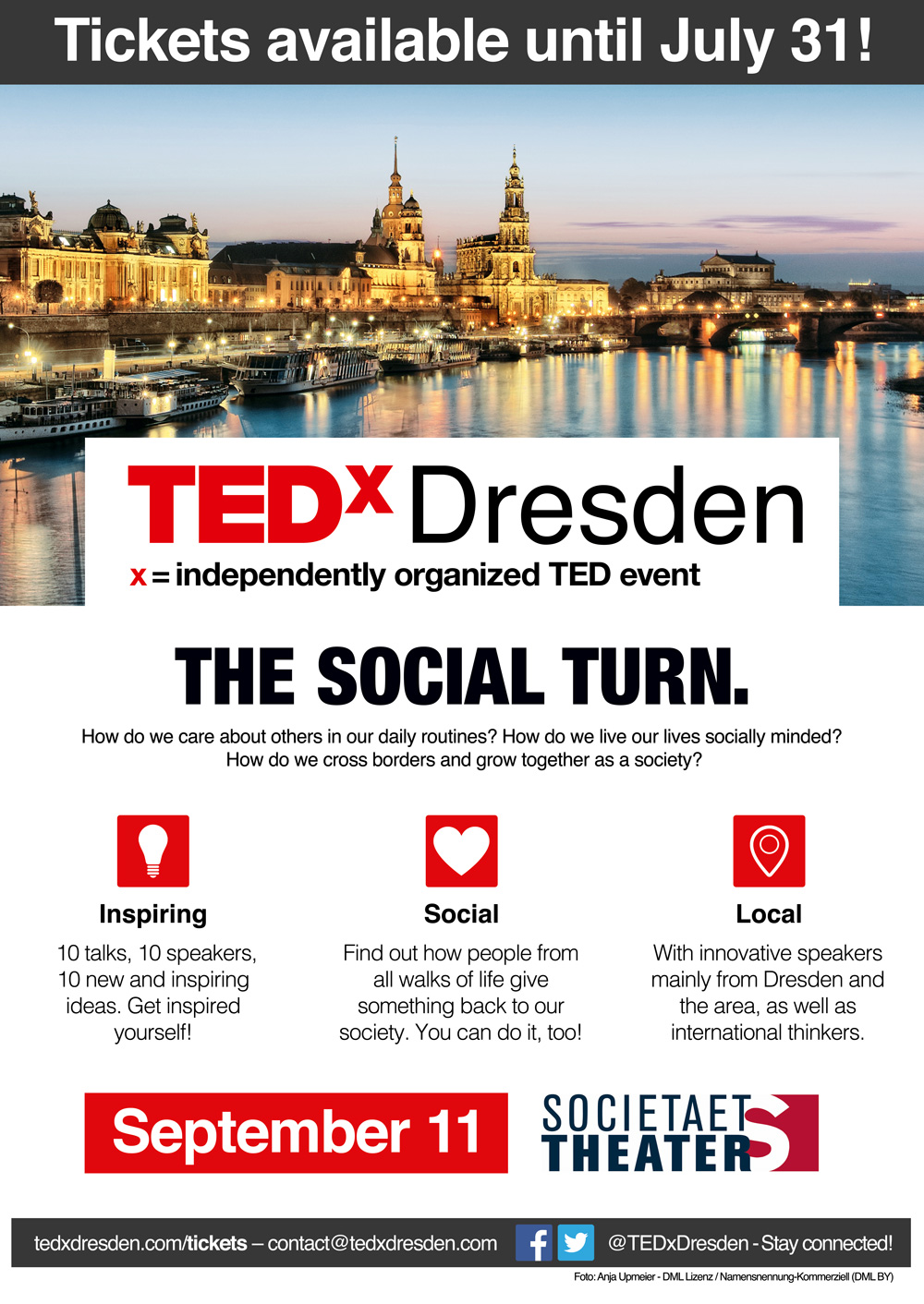 Poster - About The Social Turn - TEDx Dresden