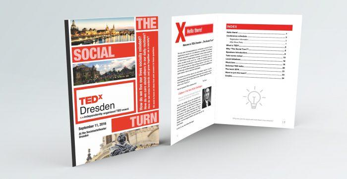 TEDx Dresden Conference booklet mockup